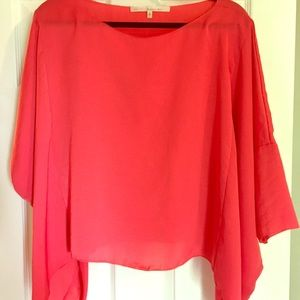 Rachel by Rachel Roy salmon silk pullover top